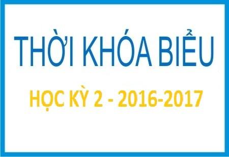 Thời khóa biểu HK2- 2016-2017